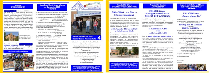 Flyer für das Schuljahr 2017/18